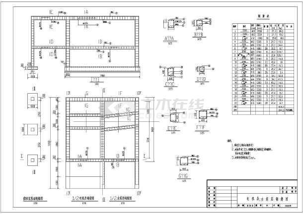 水利工程设计图 电站厂房
