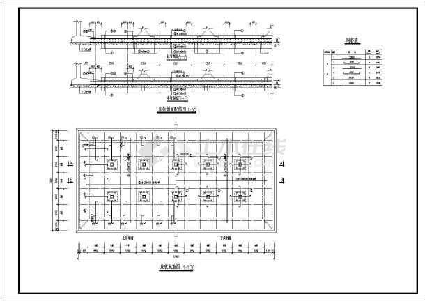 某水厂1500t矩形清水池结构设计施工图