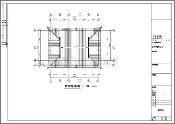 某地区二层砖混仿古建筑设计施工图纸图片