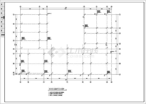 某地四层框架结构幼儿园结构方案图