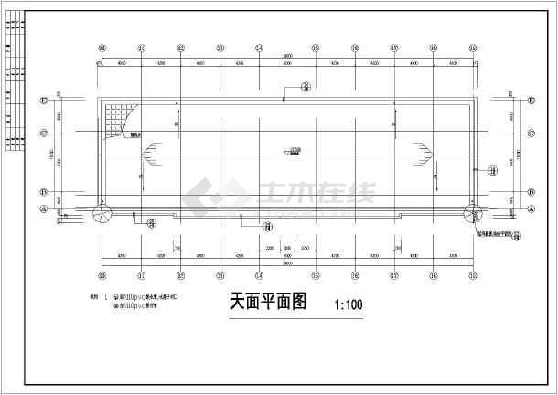 某地5层框架结构中学教学楼建筑设计施工图_cad图纸图片