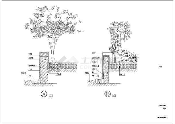 某酒店一些园林景观节点的施工详图