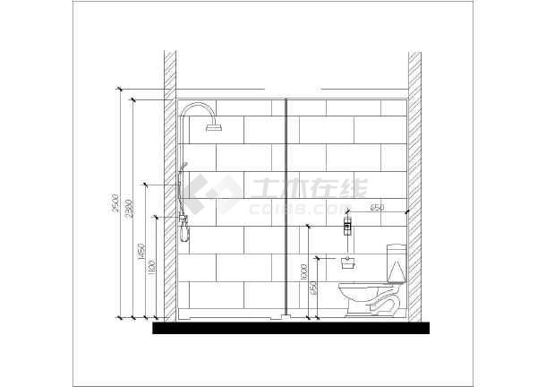 北京高层剪力墙结构豪华公寓室内装修初步设计图纸图片