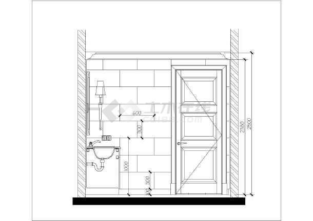 北京高层剪力墙结构豪华公寓室内装修初步设计图纸