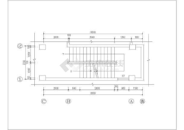 某五层文化中心楼混凝土框架结构施工图