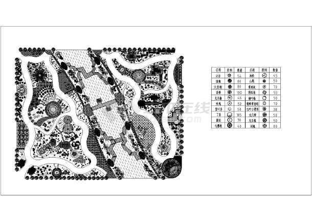 某地图纸绿化工程规划设计说明图纸_cad图纸如何出来一次性公园打印图片