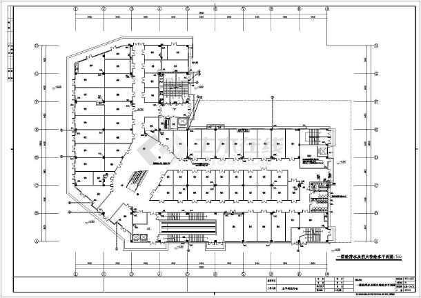 苏州某四层狂接结构商场给排水、消防工程施工学图纸画图模消失难吗图片