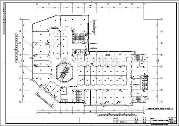 苏州某四层狂接图纸材质给排水、消防工程施工结构处商场标准图片