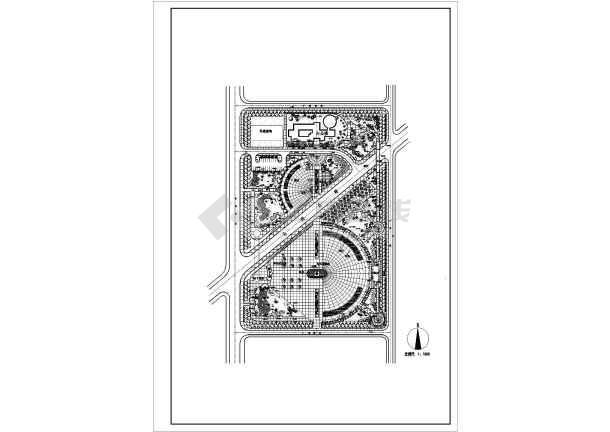 文化广场平面图设计