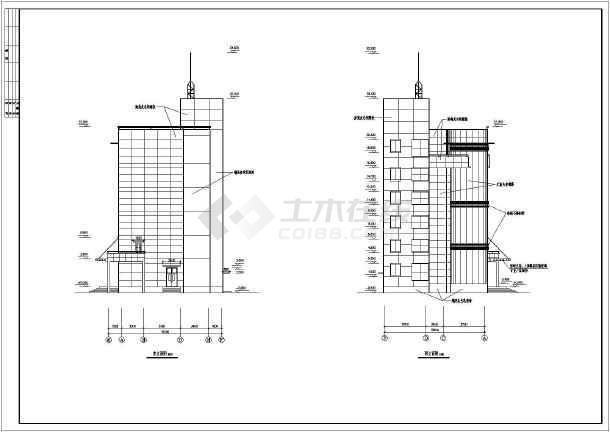 图纸 建筑图纸 办公楼设计 多层办公楼 某地6层框架结构办公楼建筑