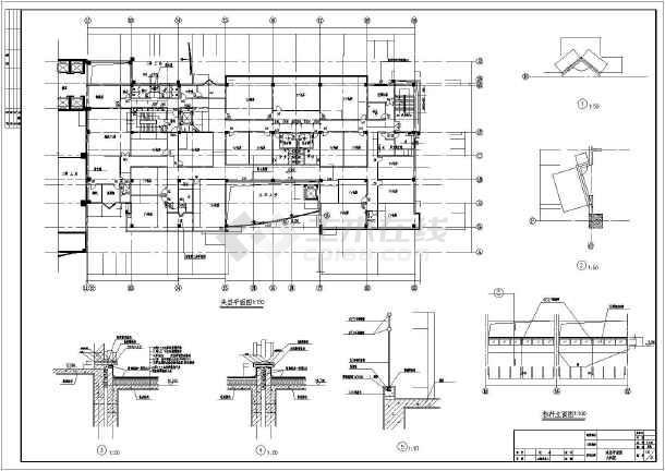 该图为酒店裙房设计,图纸包含:建筑设计说明,地下人防平时平面图,首