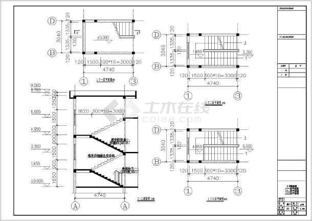 某地两层砖混结构农村别墅建筑设计施工图纸