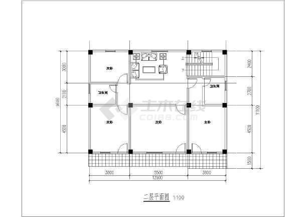 北方某地区三层别墅建筑设计平面图图片1