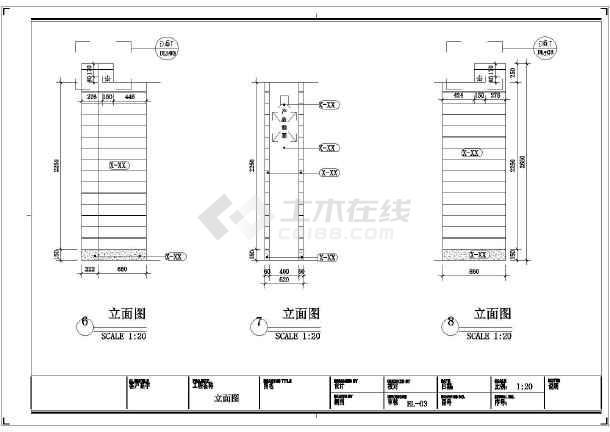 某面包连锁专卖店标准施工图,图纸内容包括:平面图,地面开线图,天花