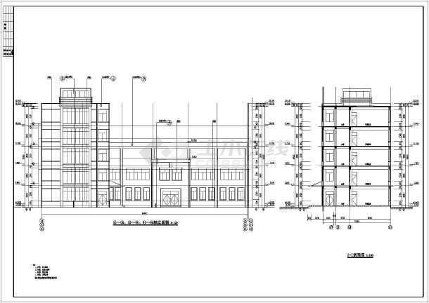 图纸内容包括:建筑施工图设计说明一