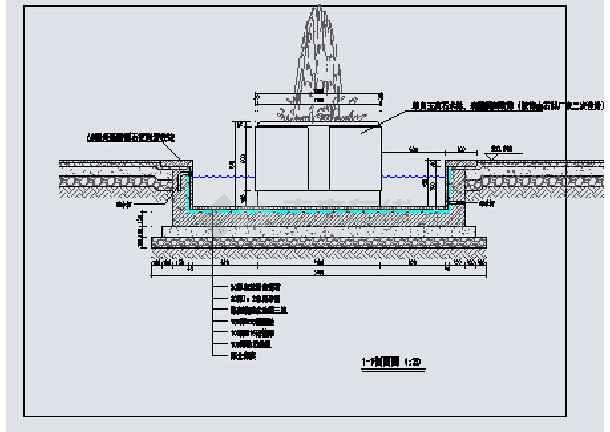 喷泉马克笔手绘平面图