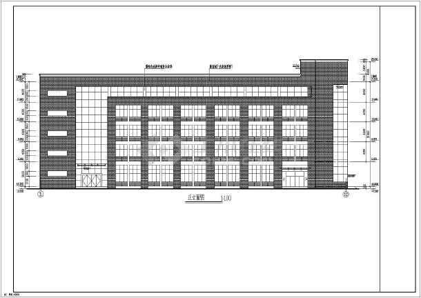 现代多层办公楼施工图(含效果图)