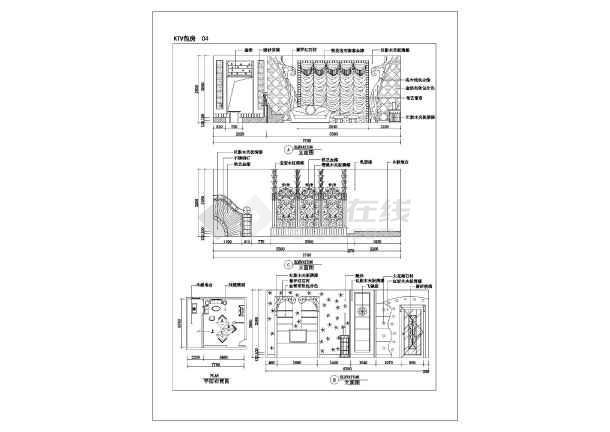 某ktv包房装饰装修设计施工平面图