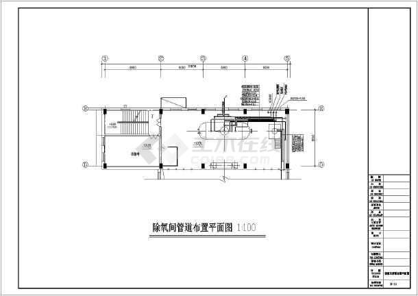 某地区35t燃气锅炉全套图纸牛脚钢筋cad图纸下载图片