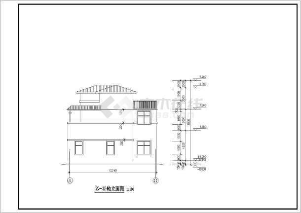 54米 宽12.24米农村自建房建筑设计图
