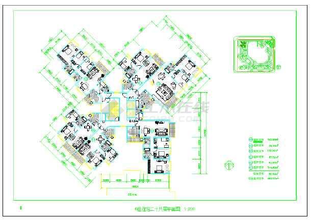 深圳市某住宅小区规划国际投标优秀方案及建筑结构水电施工图