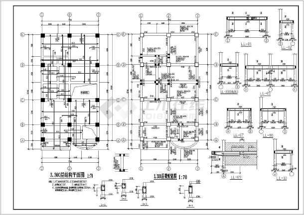 某五层底框砖混结构住宅设计施工图