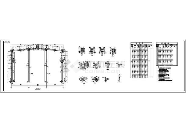 某21米跨度钢结构厂房结构设计施工图