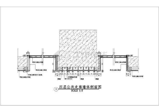 为平遥高层框架结构酒店标准层室内装修设计施工图,包括:平面布置图