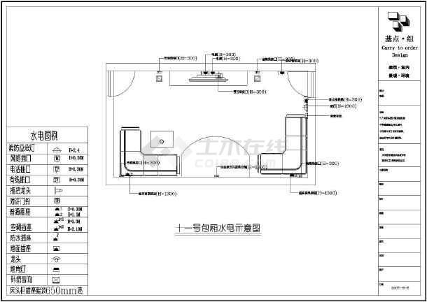 单层框架结构ktv室内装修设计方案图,包括:一层平面图,一层地面铺装