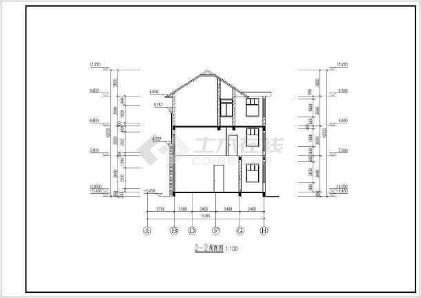 某地欧式风格三层别墅建筑方案设计图