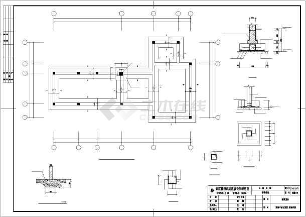 植物配置图,展廊详图,树池,残坡,台阶及挡土墙详图,假山平,立面图及