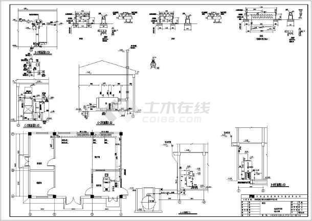 图纸 暖通设计图 供热工程 锅炉房设计施工图 青岛某港口地源热泵工程