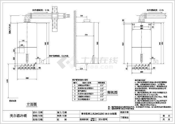 锅炉房设计施工图