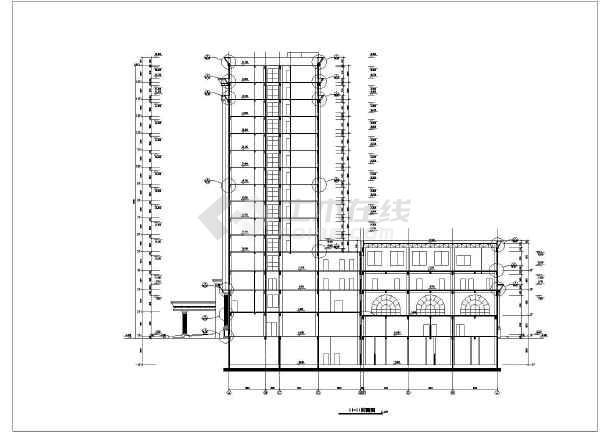 某地十五层欧式框筒结构酒店建筑施工图