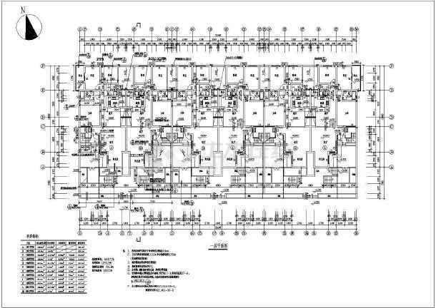 桂林7层框架结构住宅建筑施工图纸图片