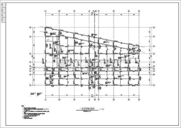 11层住宅楼钢筋混凝土框架结构施工图(cad图纸下载)
