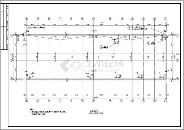 北京两层框架机构办公楼建筑施工图