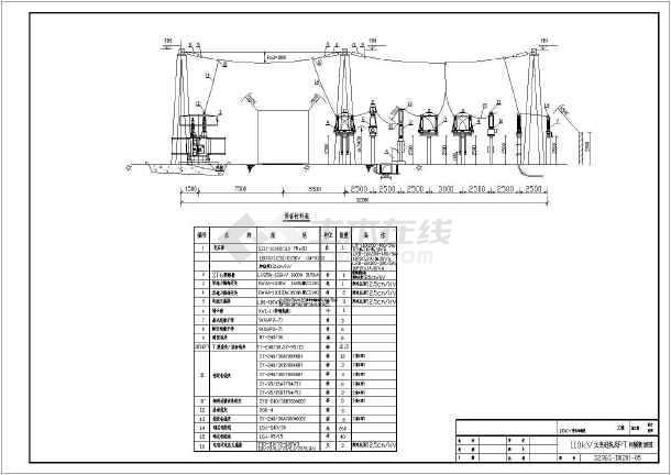 110kv开关站主接线及平面布置图