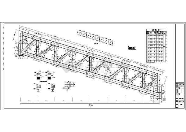 某火电厂钢结构输煤栈桥钢结构设计施工图