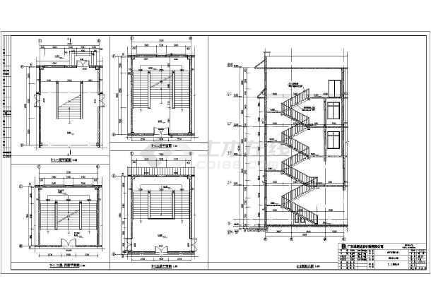 某消防大队5层综合楼建筑设计施工图