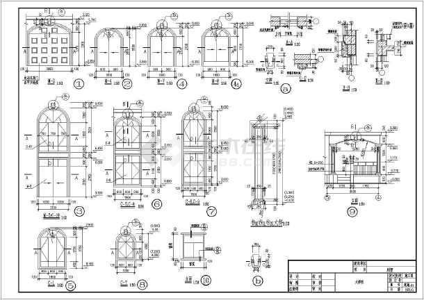 某地三层砖混结构别墅建筑结构设计方案图纸