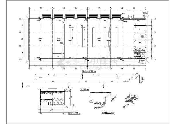 山西某汽车维修车间建筑,结构,水施工图
