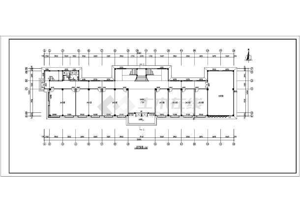 某企业三层办公楼建筑设计cad平面图