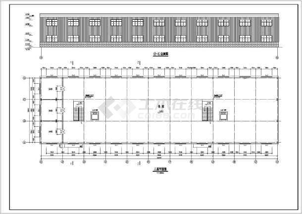 某二层门式钢架结构仓库建筑结构施工图