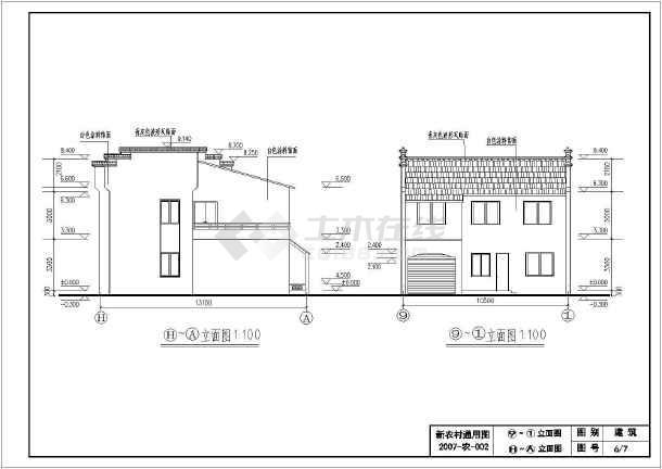 10米农村自建房建筑设计图