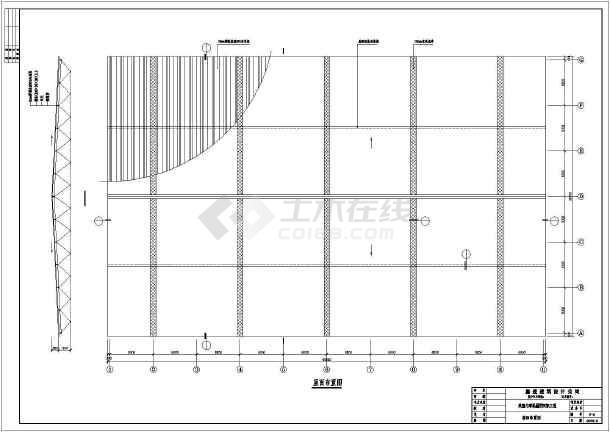 某室内球场屋面网架结构设计施工图