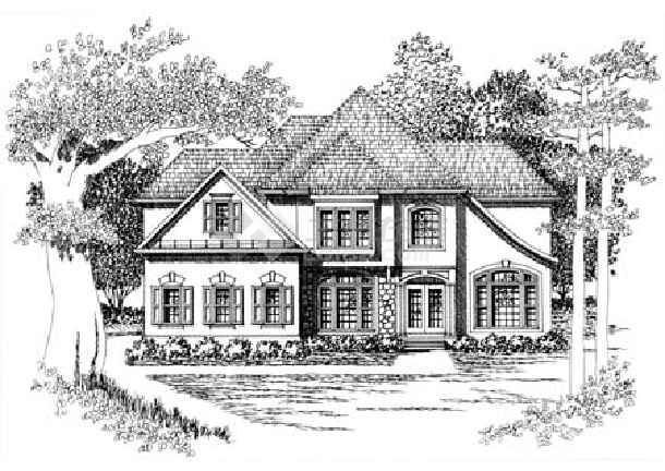 农村楼房设计图片大全素描图片