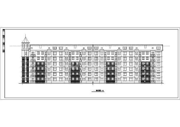 某地六层框架结构住宅建筑设计施工图