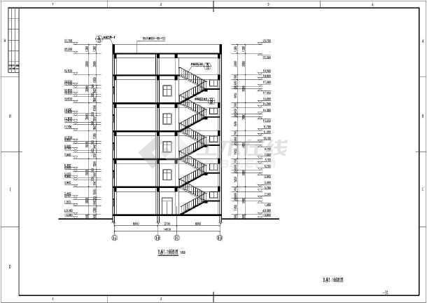 某地五层办公楼结构设计施工图(含建筑设计)