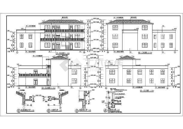 三层欧式别墅全套设计施工图